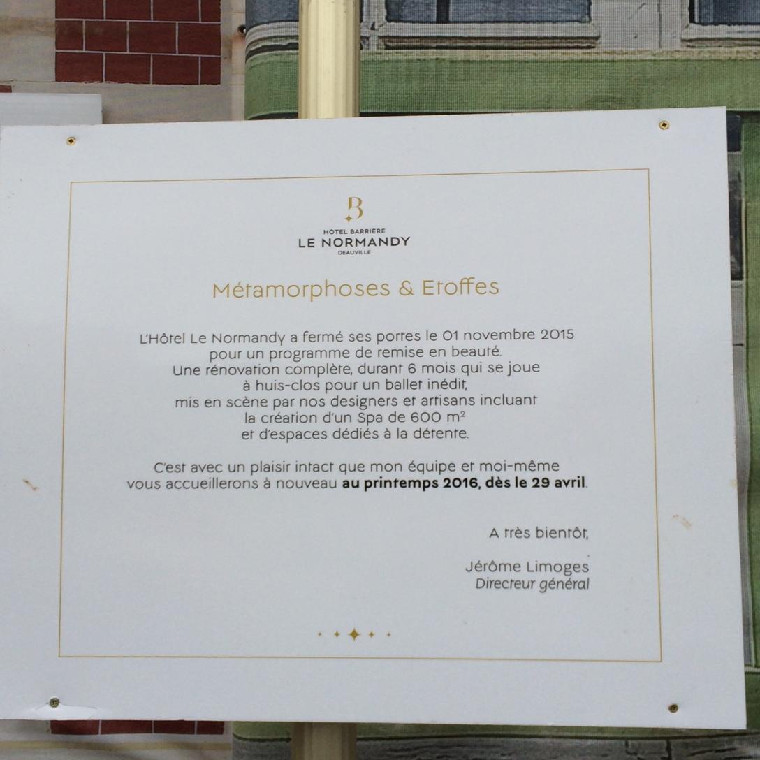 H tel barri re le normandy de deauville r ouverture le - Alexandre danan architecte ...